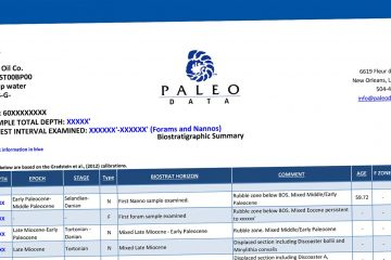 Home - Paleo Data Inc  Biostratigraphy Services