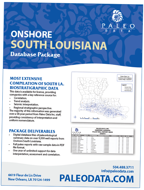 Onshore South Louisiana Database Package